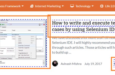 how to get link text in selenium webdriver