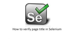 Verify title in selenium