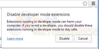 Disable Developer Mode Extensions