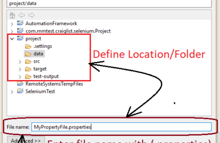 Read/Write Operations for Properties file in Automation Framework