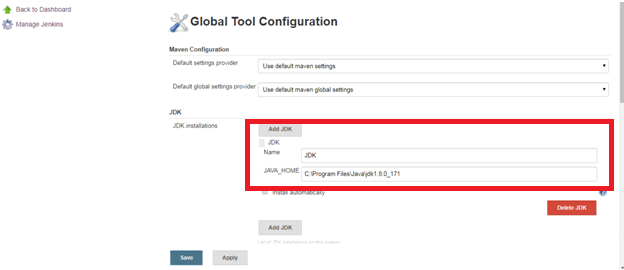 Global tool config