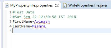 Properties file