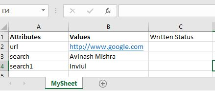 Store data from excel sheet