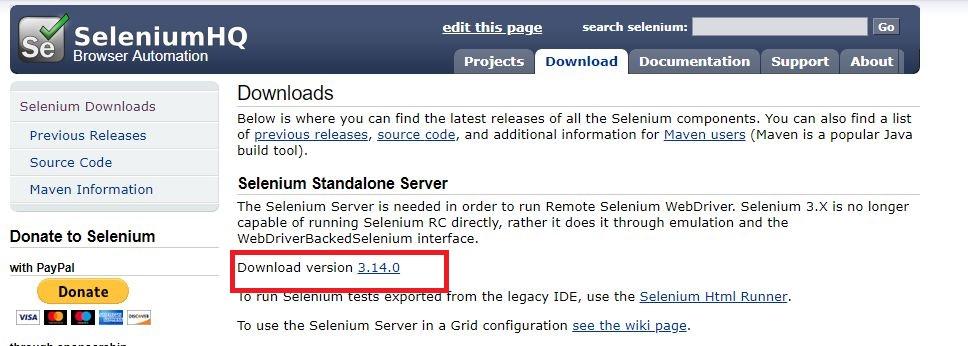Download Selenium server for Selenium Grid