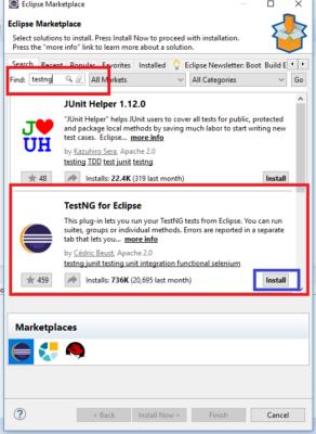 TestNG Eclipse Marketplace