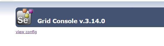 localhost selenium grid console through JSON file