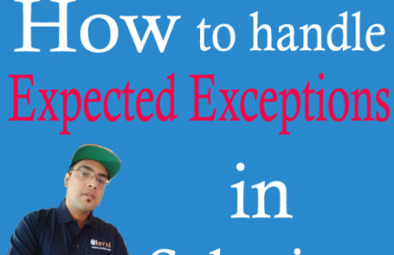 How to handle Expected Exceptions in Selenium using TestNG?