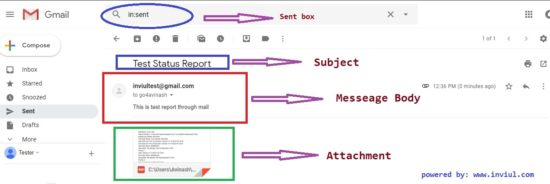Send email notification of Test report in Selenium
