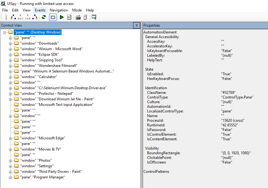 C# winium desktop tutorial Windows application